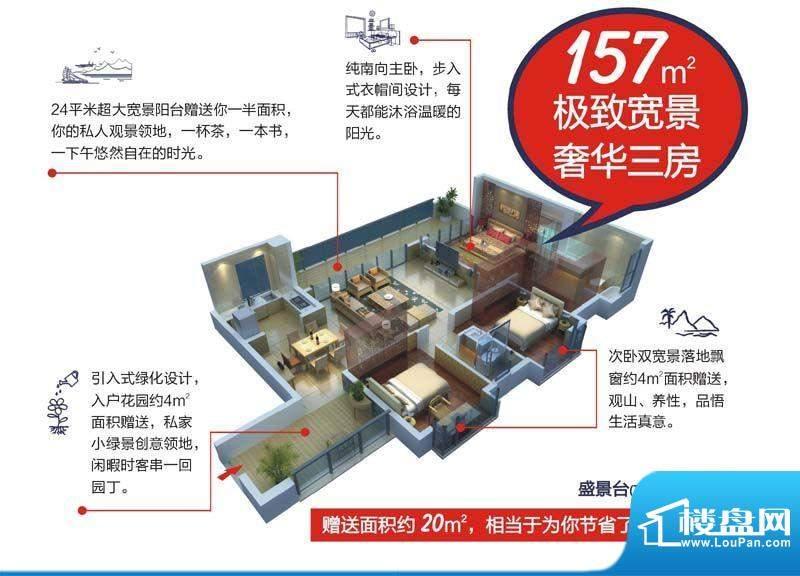 颐和盛世7号楼(盛景面积:157.00平米