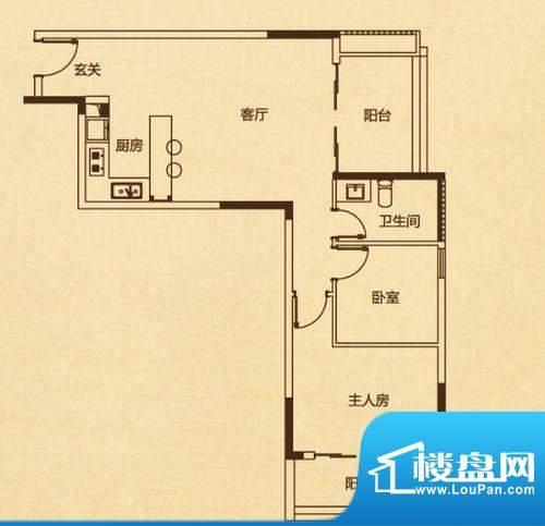 万科兰乔圣菲C1栋01面积:83.00平米