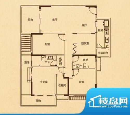 万科兰乔圣菲C2栋02面积:150.00平米