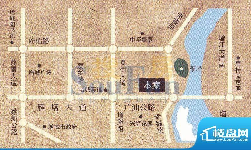 宜家水岸花园交通图