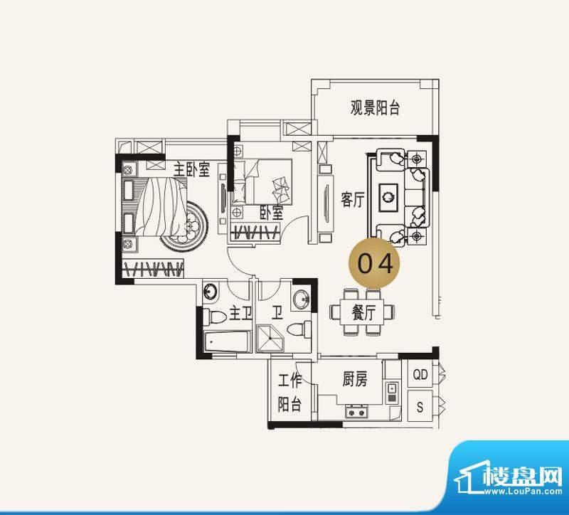 宜家水岸花园13幢2-面积:133.53平米