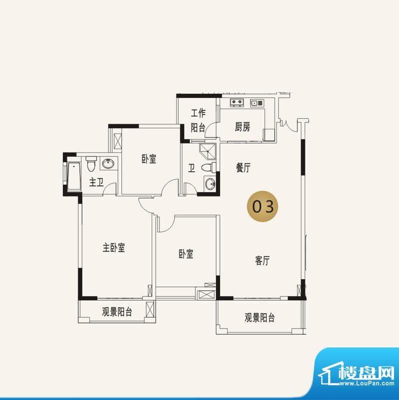 宜家水岸花园13幢2-面积:139.49平米