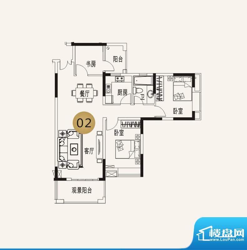 宜家水岸花园13幢6层面积:133.53平米