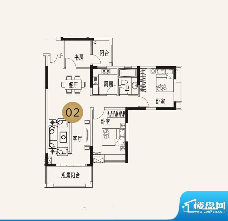 宜家水岸花园13幢6层面积:96.70平米