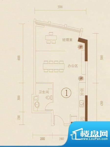 和丰大厦01户型图 1面积:68.22平米