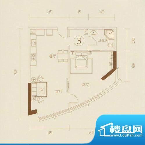 和丰大厦03户型图 1面积:86.32平米