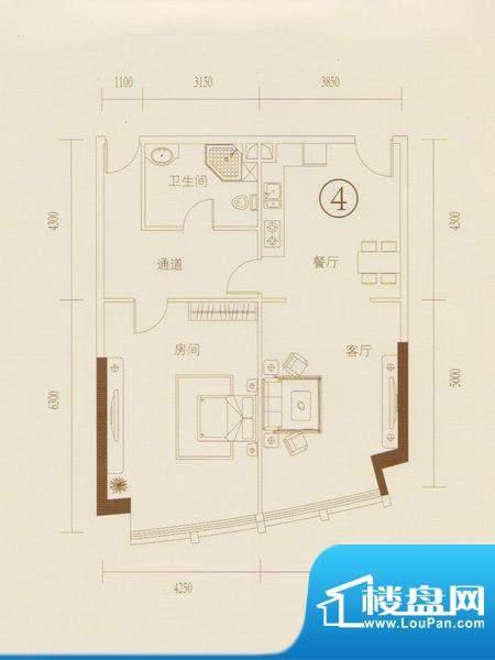 和丰大厦04户型图 1面积:109.84平米