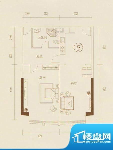 和丰大厦05户型图 1面积:115.86平米