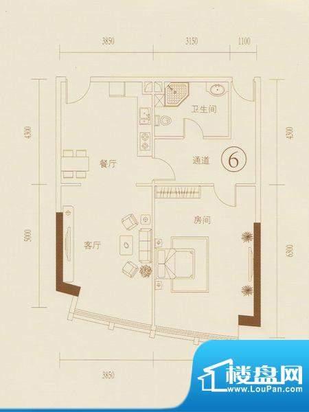 和丰大厦06户型图 1面积:109.84平米