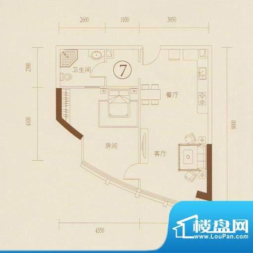 和丰大厦07户型图 1面积:85.47平米