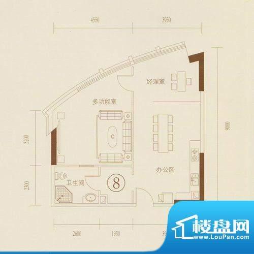 和丰大厦08户型图 2面积:89.02平米