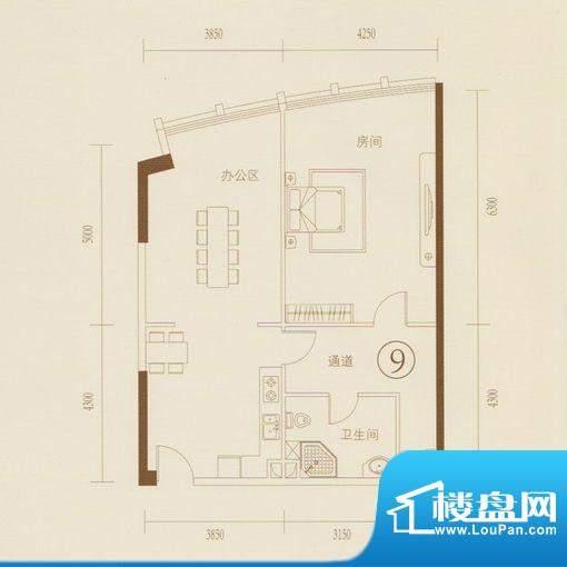 和丰大厦09户型图 1面积:112.57平米