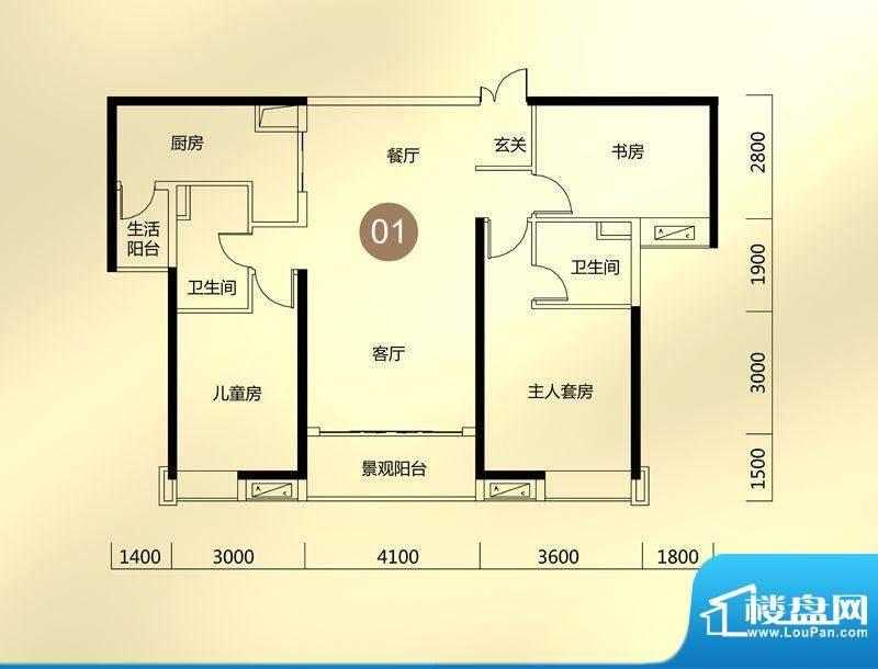 保利东江首府A5栋环面积:125.00平米