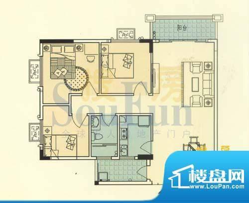 大运家园6栋A座 3室面积:105.69平米