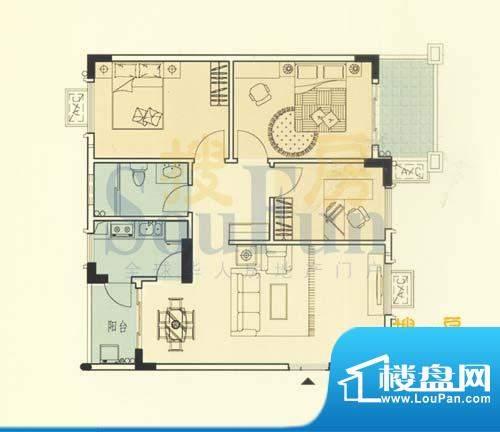 大运家园6栋F座 3室面积:90.08平米