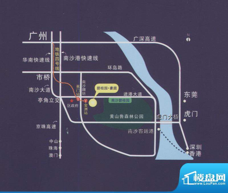 碧桂园豪庭交通图