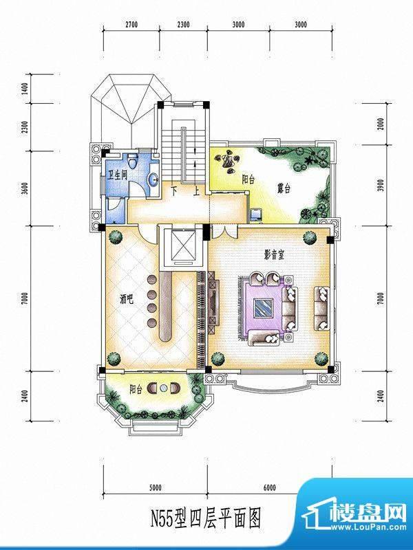 碧桂园豪庭N55型四层面积:0.00平米