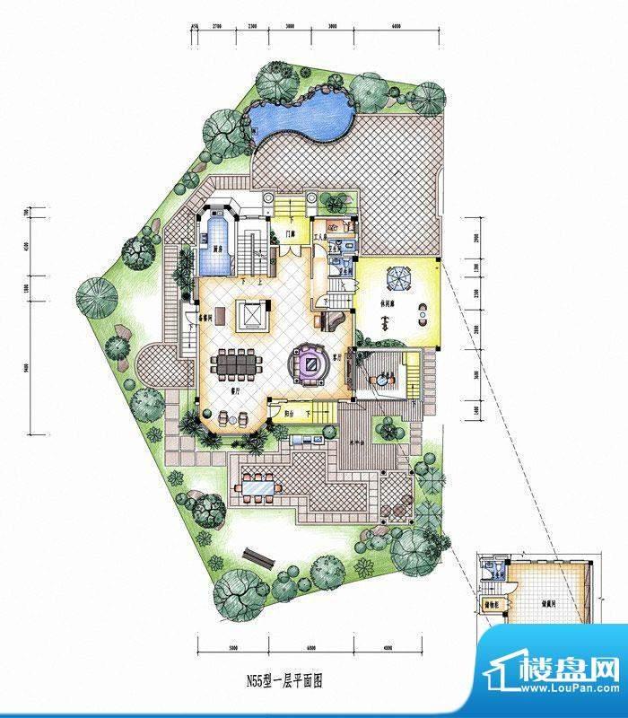 碧桂园豪庭N55型一层面积:0.00平米