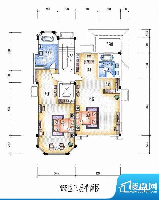 碧桂园豪庭N55型三层面积:0.00平米