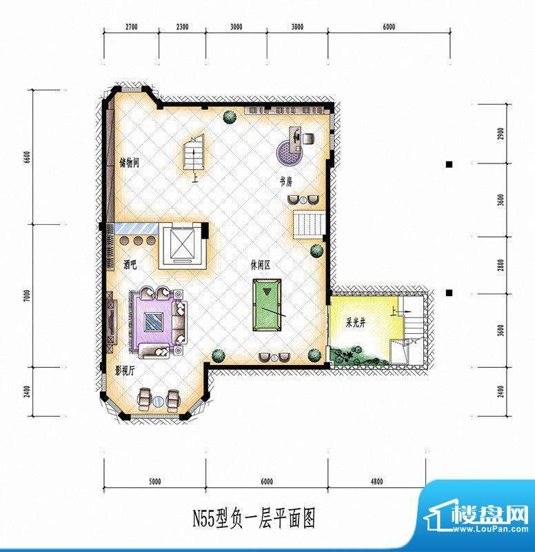 碧桂园豪庭N55型负一面积:0.00平米