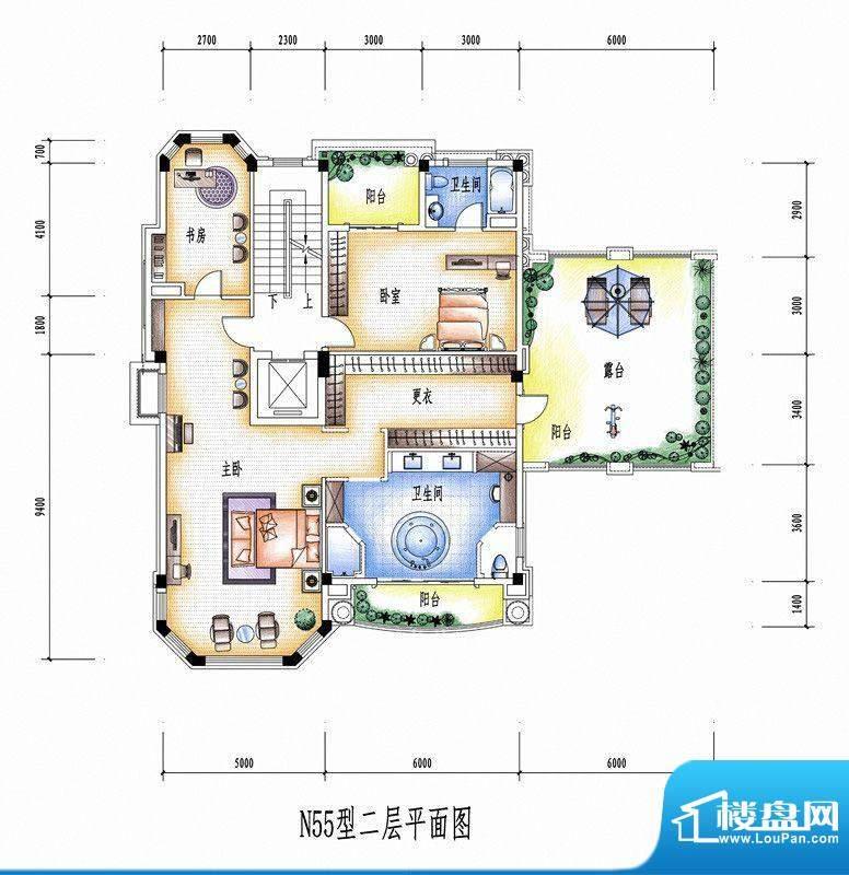 碧桂园豪庭N55型二层面积:0.00平米