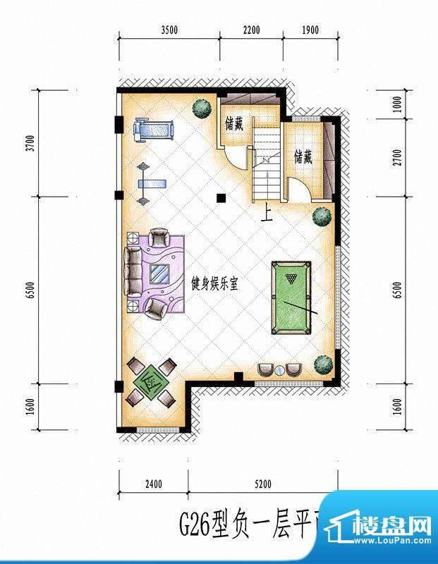 碧桂园豪庭G26型负一面积:0.00平米