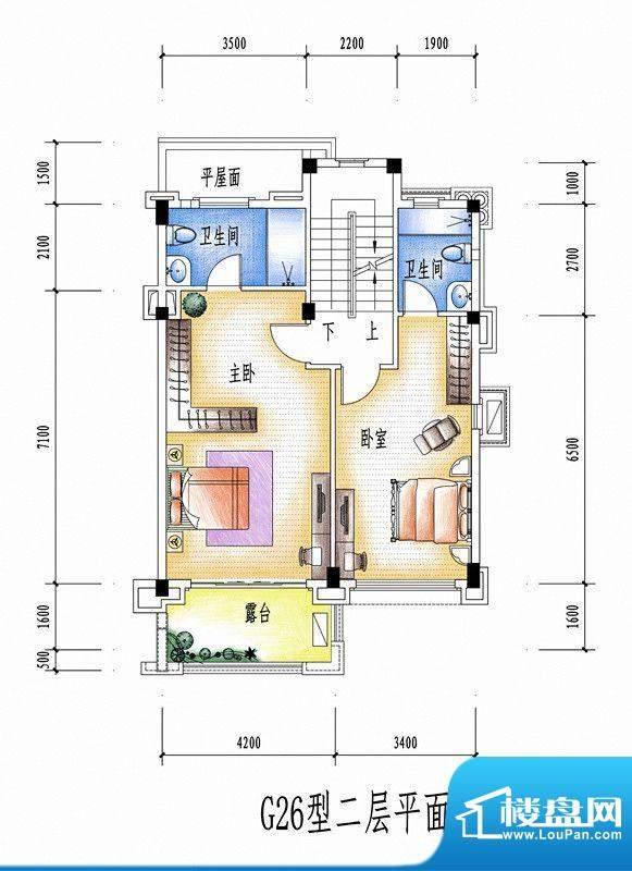 碧桂园豪庭G26型二层面积:0.00平米