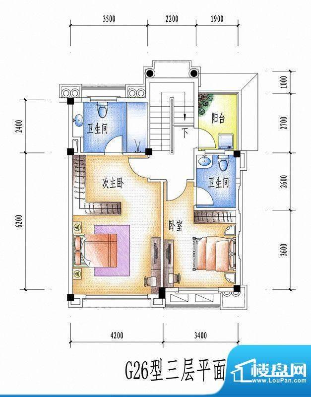 碧桂园豪庭G26型三层面积:0.00平米