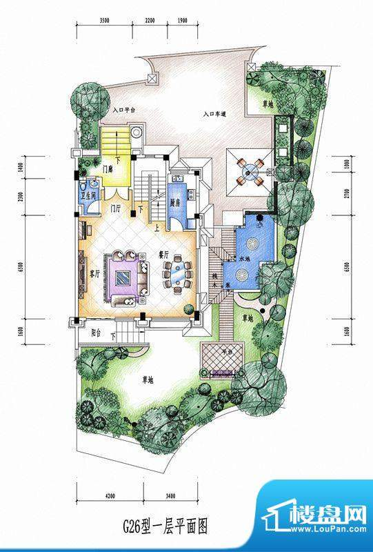 碧桂园豪庭G26型一层面积:0.00平米