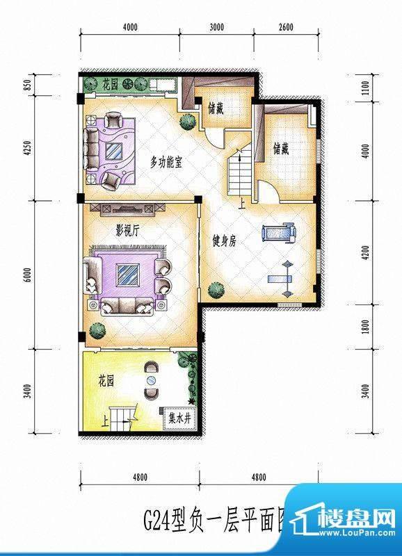 碧桂园豪庭G24型负一面积:0.00平米