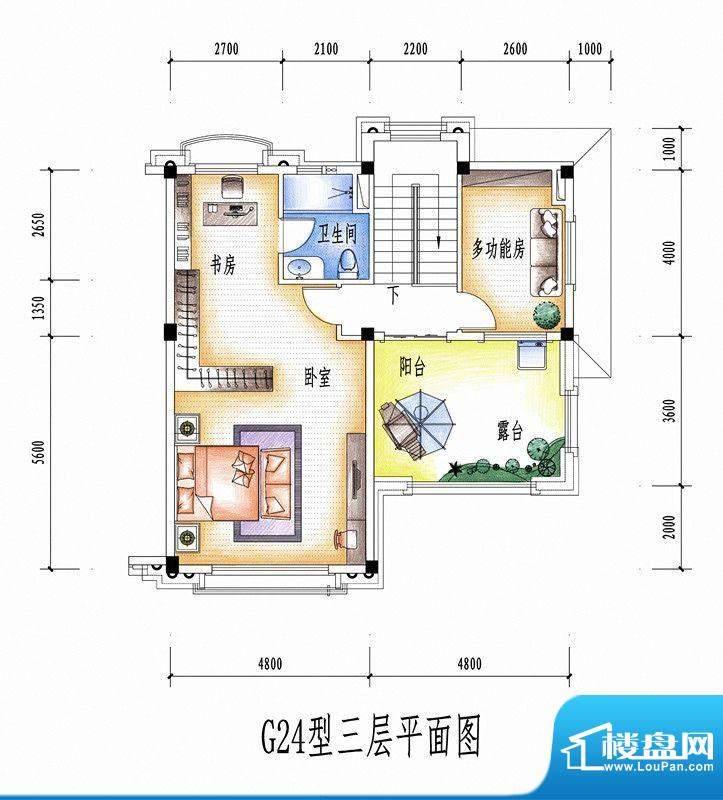 碧桂园豪庭G24型三层面积:0.00平米