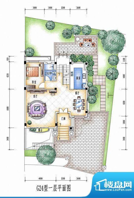 碧桂园豪庭G24型一层面积:0.00平米