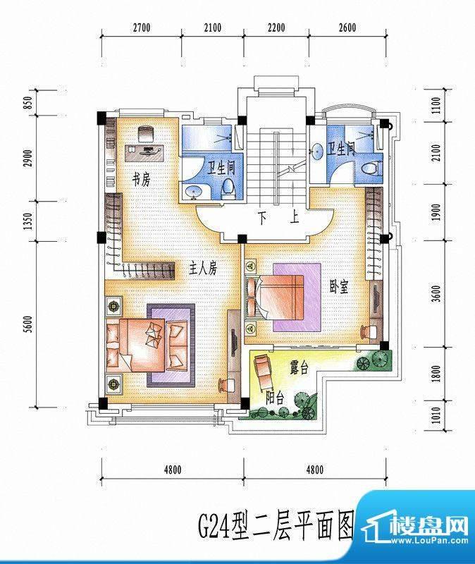 碧桂园豪庭G24型二层面积:0.00平米