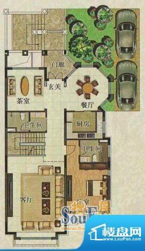 珠江国际城唐宁郡41面积:137.00平米