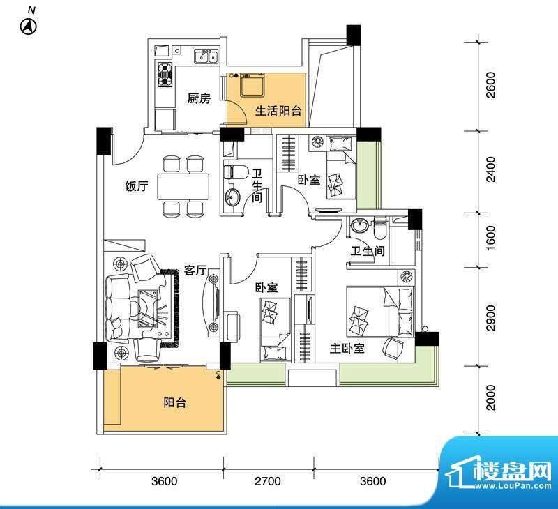 都市品格(福基苑)面积:95.22平米