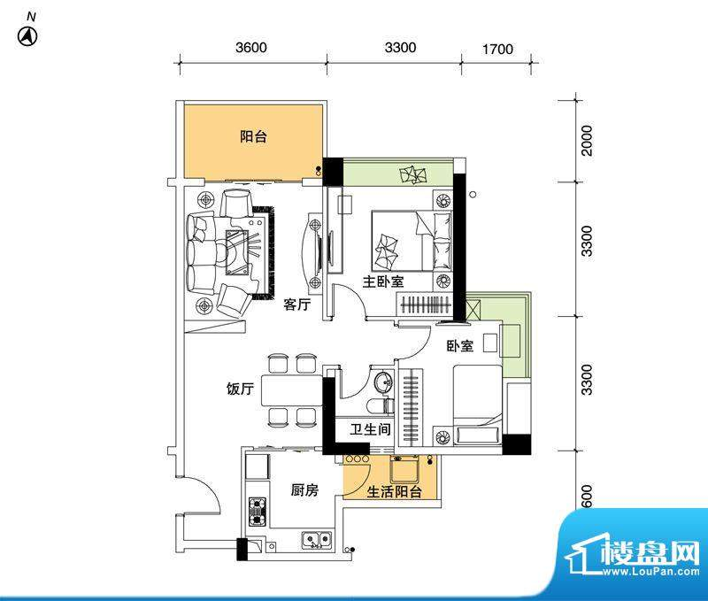 都市品格(福基苑)面积:85.26平米