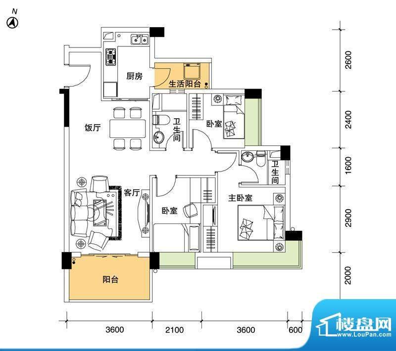 都市品格(福基苑)面积:97.67平米
