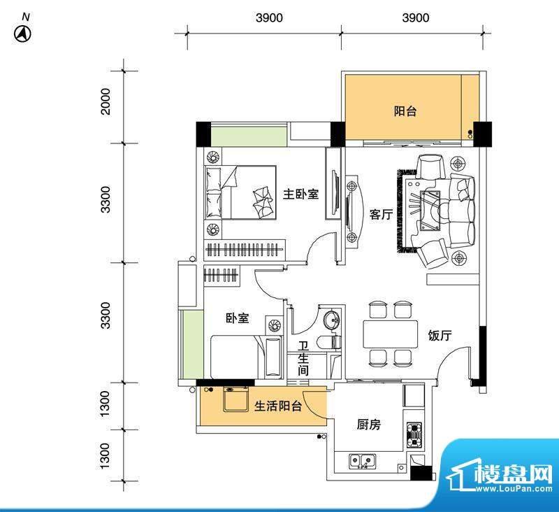都市品格(福基苑)面积:86.33平米