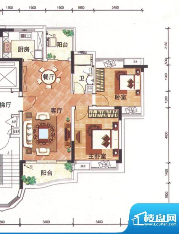 华南新城1-3栋02单位面积:92.00平米