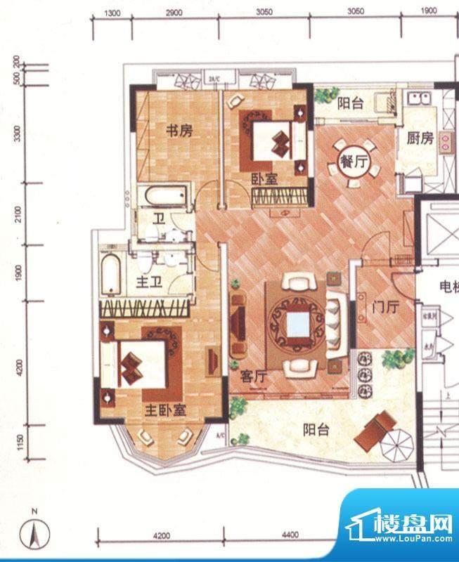 华南新城4、5栋01单面积:142.00平米
