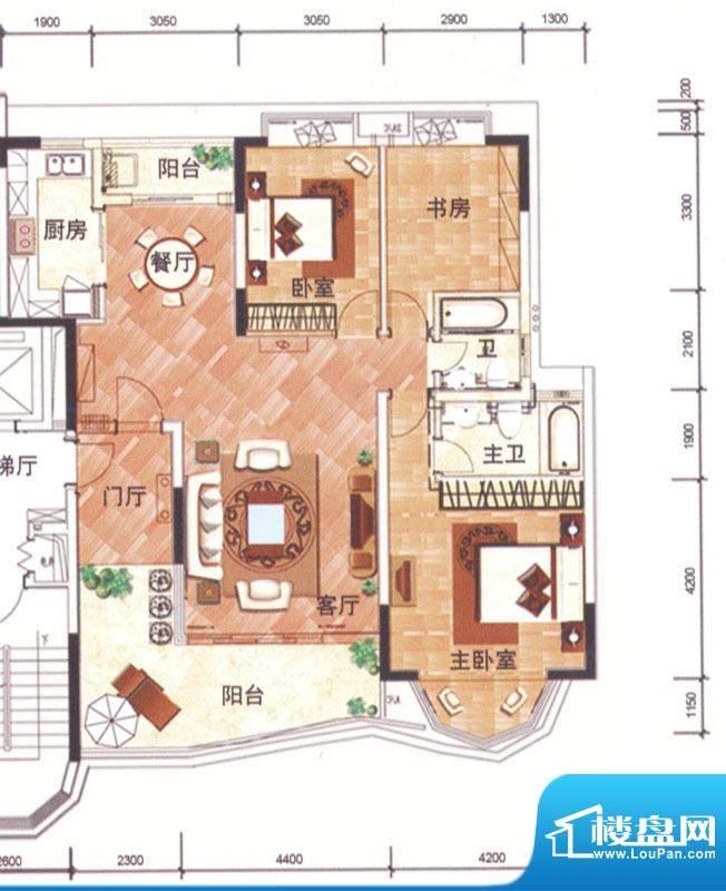 华南新城4、5栋02单面积:142.00平米