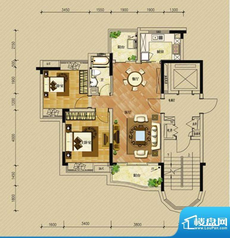 华南新城1-3栋01单位面积:92.00平米