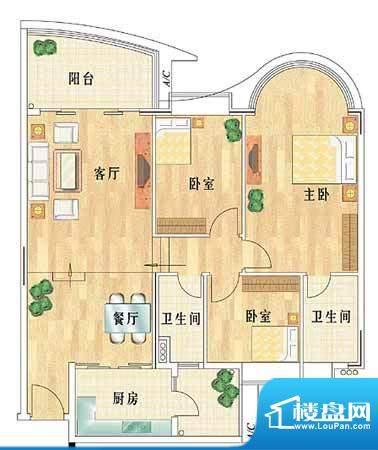 华南新城3室2厅 122面积:122.00平米