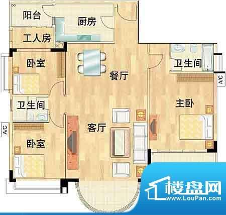 华南新城3室2厅 147面积:147.00平米