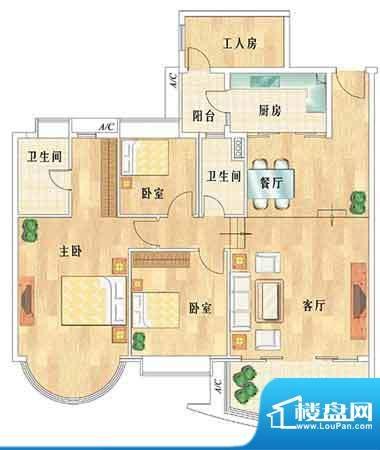华南新城4室2厅2卫1面积:0.00平米