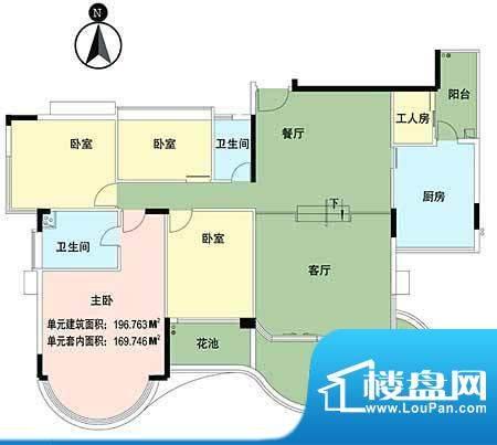 华南新城5室2厅 196面积:196.76平米