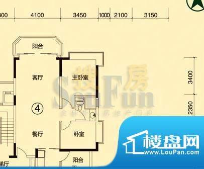 恒大绿洲2-5栋04单位面积:85.80平米