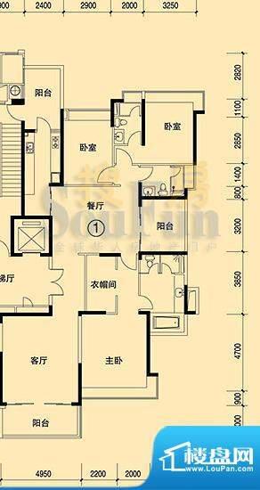 恒大绿洲15号楼01单面积:206.49平米