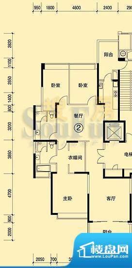 恒大绿洲15号楼02单面积:189.26平米