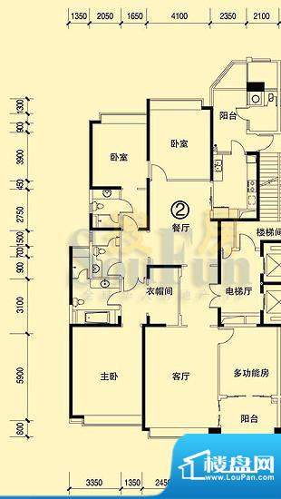 恒大绿洲28号楼02单面积:265.67平米